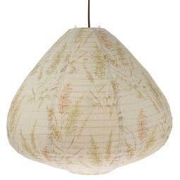 HKliving Printed Lantern Vintage Reeds hanglamp