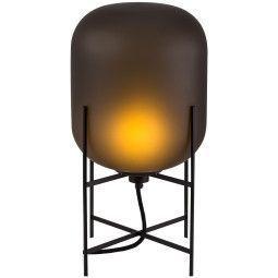Pulpo Tweedekansje - Oda tafellamp zwart met smoky grey acetato glas