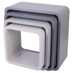 Sebra Wandkast set van 4 vierkant