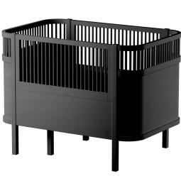 Sebra The Sebra Black Wooden edition baby ledikant