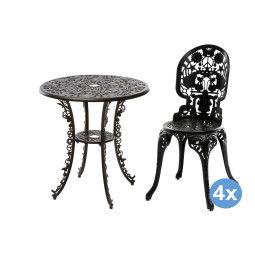 Seletti Industry Garden tuinset 70 tafel + 4 stoelen (chair)