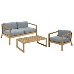 Skagerak Virkelyst tuinset loungebank + fauteuil + salontafel
