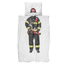 Snurk Brandweerman dekbedovertrek 140x220