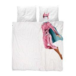 Snurk Superheld dekbedovertrek roze 240x220