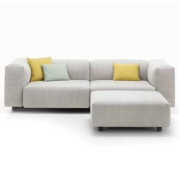 Vitra Soft Modular Sofa bank 2-zits met poef