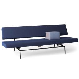 Spectrum BR 02 slaapbank zwart frame, canvas blauw
