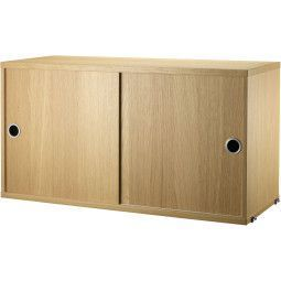 String Cabinet with sliding doors 78 x 30 x 42 cm