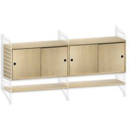 String Furniture Dressoir medium, wit/eiken