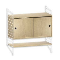 String Furniture Dressoir small, wit/eiken