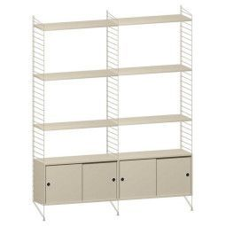 String Hoge kast medium, beige
