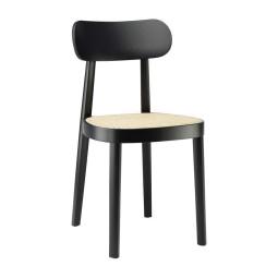 Thonet 118 stoel met zitting van gevlochten riet, zwart beuken TP29