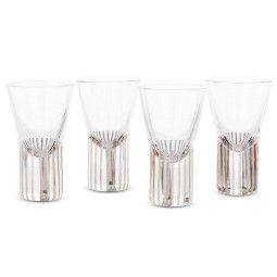 Tom Dixon Tank Platinum glas set van 4