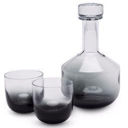 Tom Dixon Tank Whiskey karaf met 2 glazen