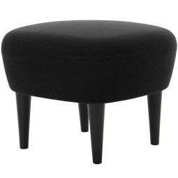 Tom Dixon Wingback Black ottoman