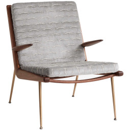 &tradition Boomerang HM2 fauteuil met arm walnoot