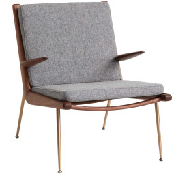 &tradition Boomerang HM2 fauteuil met arm walnoot