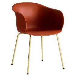 &tradition Elefy JH28 stoel met messing onderstel