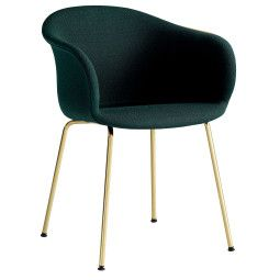 &tradition Elefy JH29 gestoffeerde stoel met messing onderstel