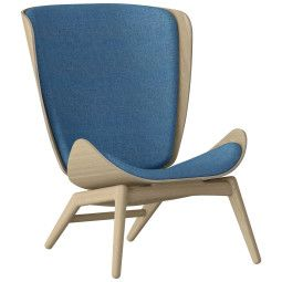 Umage Tweedekansje - The Reader fauteuil eiken Petrol Blue