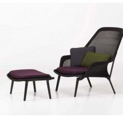 Vitra Slow chair met Ottoman loungestoel