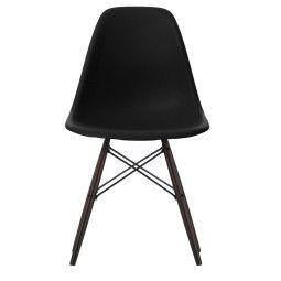 Vitra Eames DSW stoel met zwart esdoorn onderstel