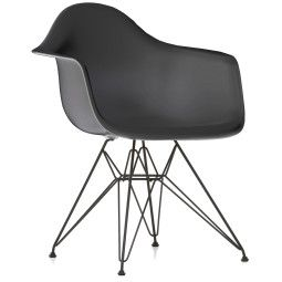 Vitra Eames DAR stoel met zwart gepoedercoat onderstel