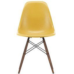 Vitra Eames DSW Fiberglass stoel esdoorn donker , nieuwe kleuren
