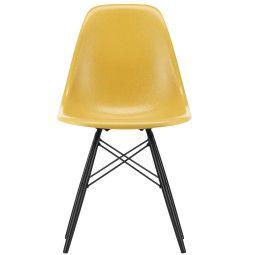 Vitra Eames DSW Fiberglass stoel esdoorn zwart, nieuwe kleuren