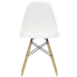 Vitra Eames DSW stoel geelachtig esdoorn onderstel