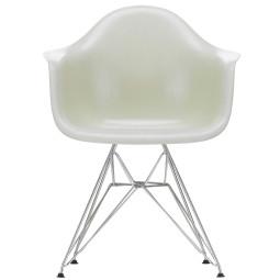 Vitra Eames Fiberglass DAR stoel met verchroomd onderstel