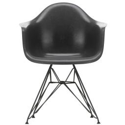 Vitra Eames Fiberglass DAR stoel met zwart gepoedercoat onderstel