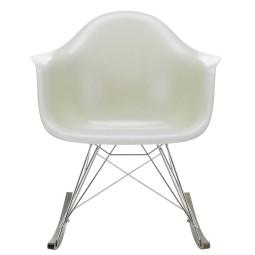 Vitra Eames RAR Fiberglass schommelstoel donker