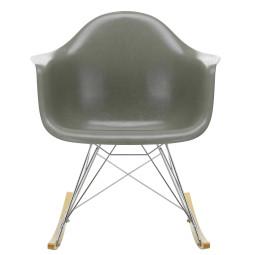 Vitra Eames RAR Fiberglass schommelstoel esdoorn goud