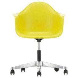 Vitra Eames PACC stoel, draaibaar met wielen