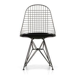 Vitra Eames Wire Chair DKR-5 stoel gepoedercoat onderstel