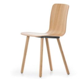 Vitra Hal Ply Wood stoel licht eiken