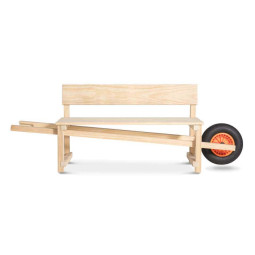 Weltevree Wheelbench tuinbank accoya