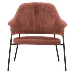 WOOOD Exclusive Bobby fauteuil fluweel koraal