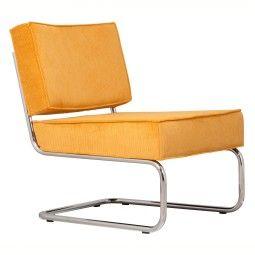 Zuiver Ridge Lounge Rib loungestoel zonder armleuningen