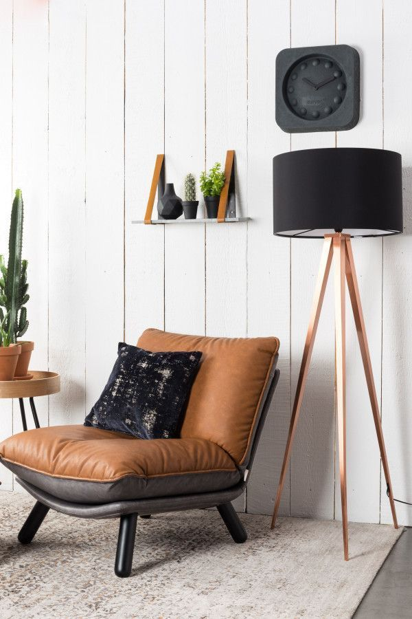 Zuiver Tripod Copper vloerlamp