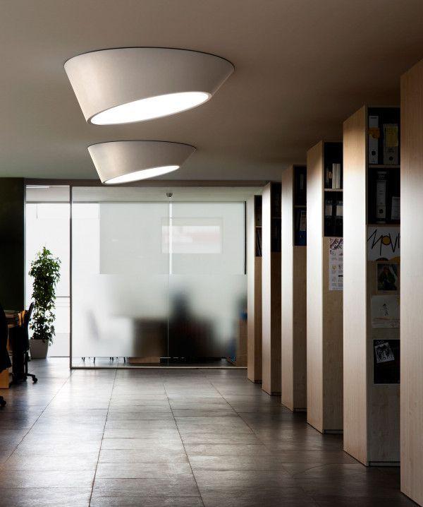 Vibia Plus plafondlamp schuin dimbaar