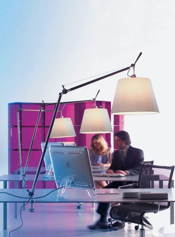 Artemide Tolomeo Mega Tavolo bureaulamp LED met toetsdimmer en tafelklem aluminium
