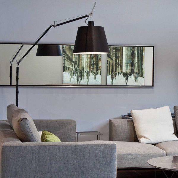 Artemide Tolomeo Mega Terra vloerlamp LED met snoerdimmer zwart 3000K