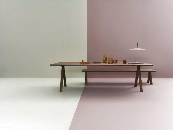 EYYE Axxe tafel 180x90 met stub hoeken, Exclusive eikenhout