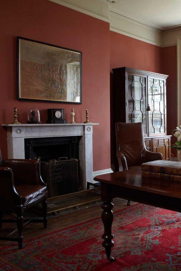 Farrow & Ball Hout- en metaalverf binnen Book Room Red (50)