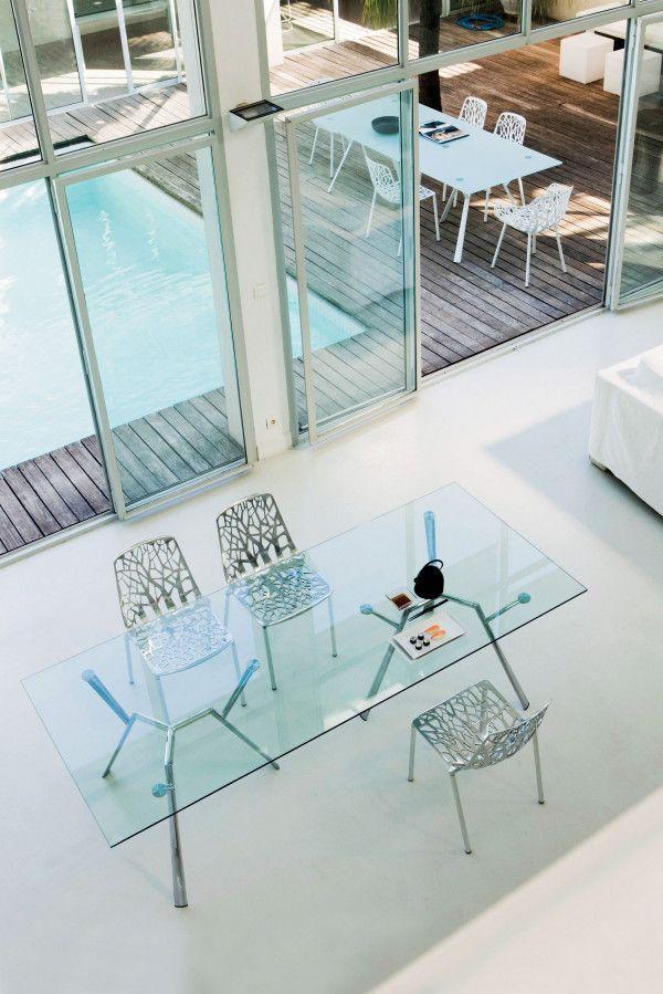 Fast Radice Quadra tuinset 200x90 tafel + 6 stoelen (chair)