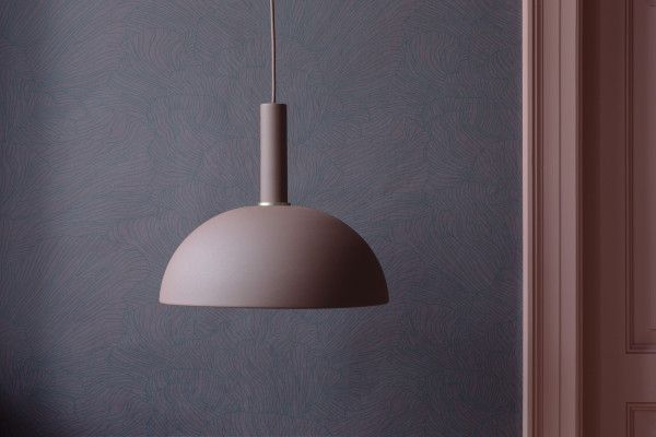 Ferm Living Dome Red Brown hanglamp