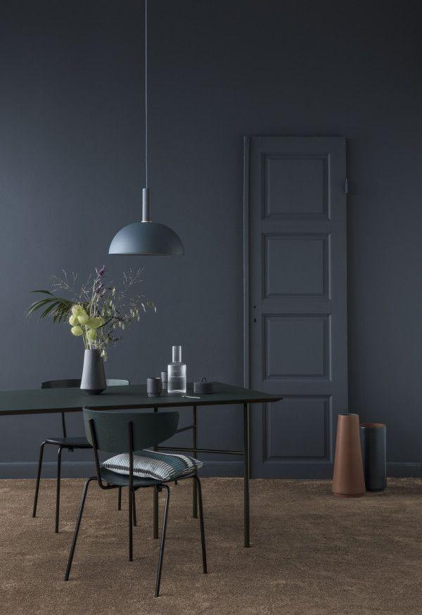 Ferm Living Dome Dark Blue hanglamp