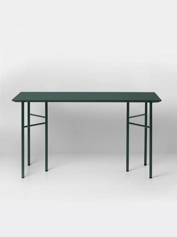 Ferm Living Mingle Desk Green Linoleum bureau 135x65 verstelbaar