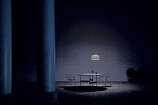 Foscarini Twiggy Grid vloerlamp outdoor LED